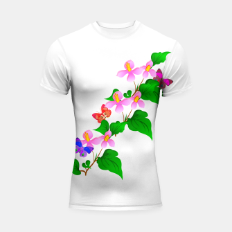 Thumbnail image of Flowers and Butterfly's  Shortsleeve Rashguard, Live Heroes