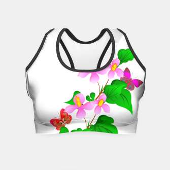 Thumbnail image of Flowers and Butterfly's  Crop Top, Live Heroes