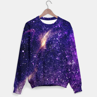 Thumbnail image of Ultra violet purple abstract galaxy Sweater, Live Heroes