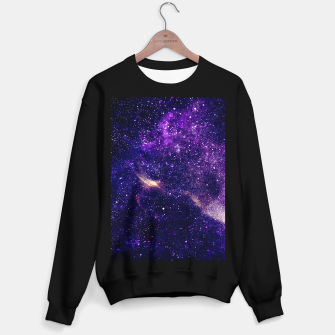 Thumbnail image of Ultra violet purple abstract galaxy Sweater regular, Live Heroes