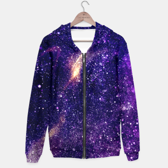 Miniaturka Ultra violet purple abstract galaxy Hoodie, Live Heroes