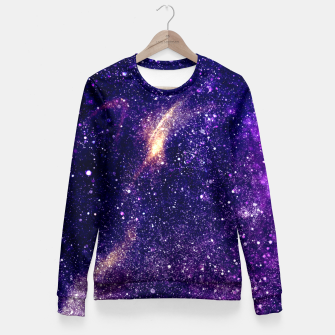 Thumbnail image of Ultra violet purple abstract galaxy Fitted Waist Sweater, Live Heroes