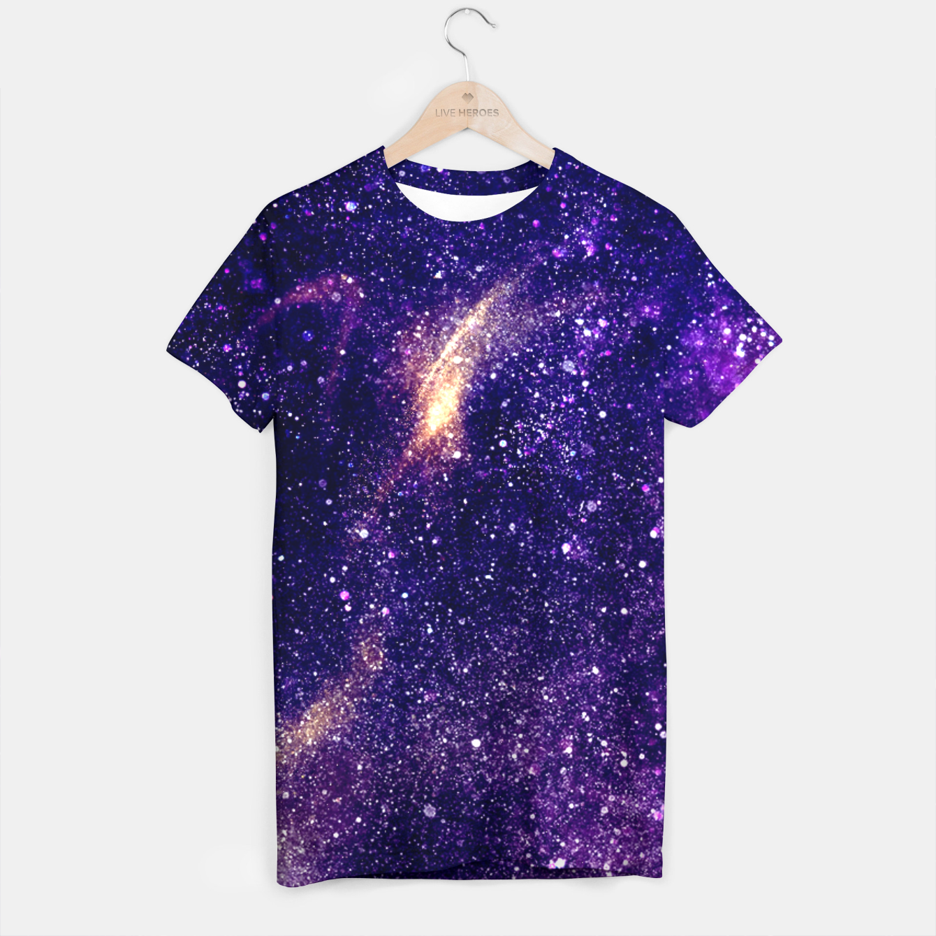 Image of Ultra violet purple abstract galaxy T-shirt - Live Heroes