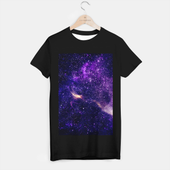 Thumbnail image of Ultra violet purple abstract galaxy T-shirt regular, Live Heroes
