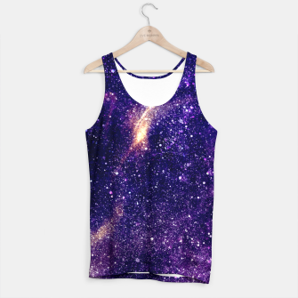 Miniaturka Ultra violet purple abstract galaxy Tank Top, Live Heroes