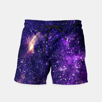 Thumbnail image of Ultra violet purple abstract galaxy Swim Shorts, Live Heroes