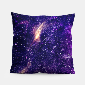 Thumbnail image of Ultra violet purple abstract galaxy Pillow, Live Heroes