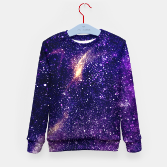 Thumbnail image of Ultra violet purple abstract galaxy Kid's Sweater, Live Heroes