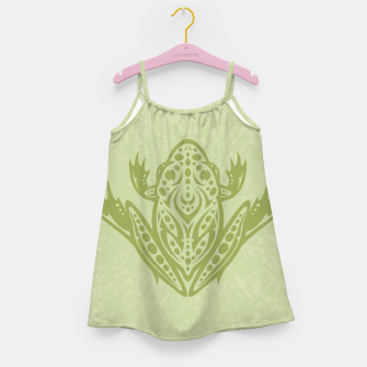 Thumbnail image of Tribal Leopard Frog Girl's Dress, Live Heroes