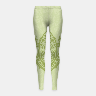 Thumbnail image of Tribal Leopard Frog Girl's Leggings, Live Heroes