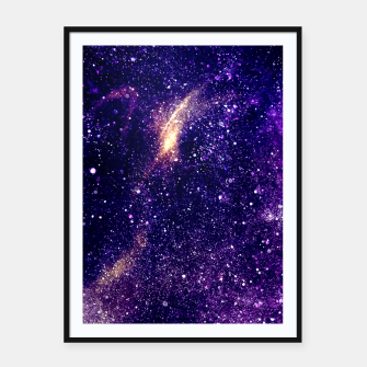 Thumbnail image of Ultra violet purple abstract galaxy Framed poster, Live Heroes