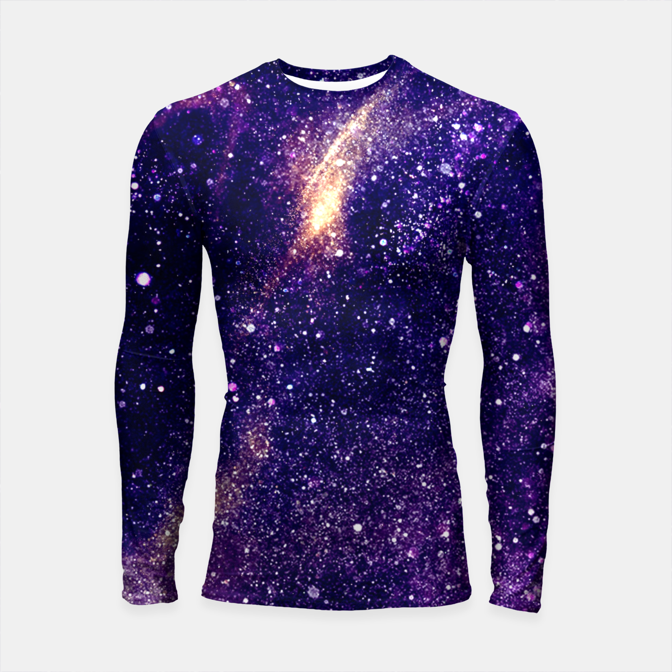 Foto Ultra violet purple abstract galaxy Longsleeve Rashguard  - Live Heroes