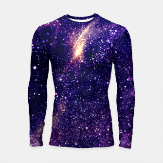 Miniatur Ultra violet purple abstract galaxy Longsleeve Rashguard , Live Heroes