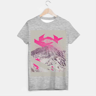 Miniatur Abstracted Mountains T-shirt regular, Live Heroes
