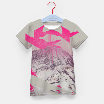 Thumbnail image of Abstracted Mountains Kid's T-shirt, Live Heroes
