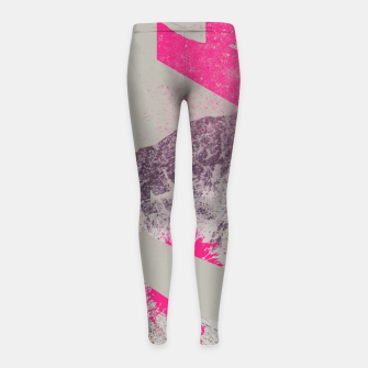Miniatur Abstracted Mountains Girl's Leggings, Live Heroes