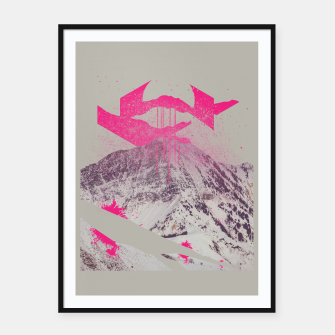 Miniaturka Abstracted Mountains Framed poster, Live Heroes