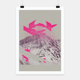 Miniatur Abstracted Mountains Poster, Live Heroes