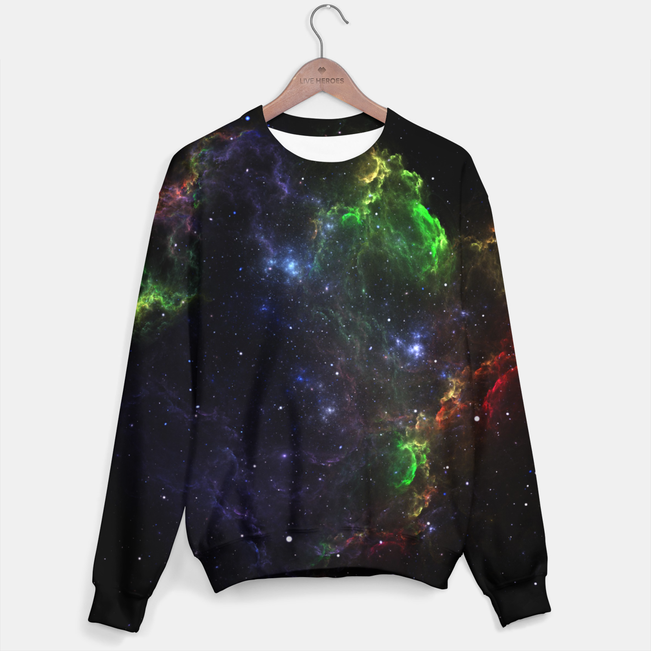 Image of Mass Star Nebula Fractal Art Sweater - Live Heroes