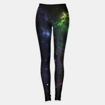 Mass Star Nebula Fractal Art Leggings thumbnail image