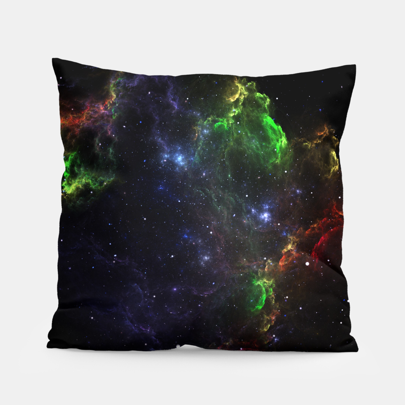 Image of Mass Star Nebula Fractal Art Pillow - Live Heroes