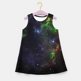 Mass Star Nebula Fractal Art Girl's summer dress thumbnail image