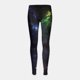Mass Star Nebula Fractal Art Girl's Leggings thumbnail image