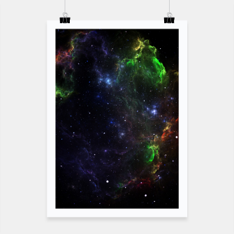 Thumbnail image of Mass Star Nebula Fractal Art Poster, Live Heroes