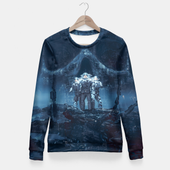 Thumbnail image of Planet of Doom Fitted Waist Sweater, Live Heroes