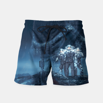 Thumbnail image of Planet of Doom Swim Shorts, Live Heroes