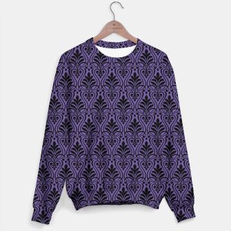 Imagen en miniatura de Color of the Year 2018 - Ultraviolet - Art Deco Black Edition Sweatshirt, Live Heroes