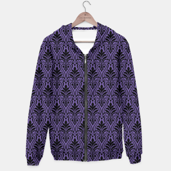 Imagen en miniatura de Color of the Year 2018 - Ultraviolet - Art Deco Black Edition Kapuzenpullover, Live Heroes