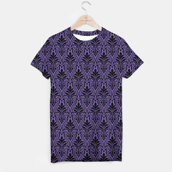 Imagen en miniatura de Color of the Year 2018 - Ultraviolet - Art Deco Black Edition T-Shirt, Live Heroes