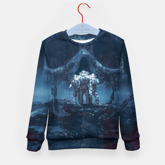 Thumbnail image of Planet of Doom Kid's Sweater, Live Heroes