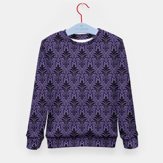 Imagen en miniatura de Color of the Year 2018 - Ultraviolet - Art Deco Black Edition Kindersweatshirt, Live Heroes