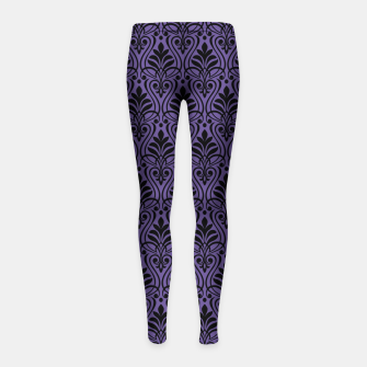 Imagen en miniatura de Color of the Year 2018 - Ultraviolet - Art Deco Black Edition Kinder-Leggins, Live Heroes