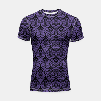 Imagen en miniatura de Color of the Year 2018 - Ultraviolet - Art Deco Black Edition Shortsleeve Rashguard, Live Heroes