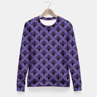Imagen en miniatura de Color of the Year 2018 - Ultraviolet - Art Deco Black Edition Taillierte Sweatshirt, Live Heroes