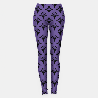 Imagen en miniatura de Color of the Year 2018 - Ultraviolet - Art Deco Black Edition Leggings, Live Heroes