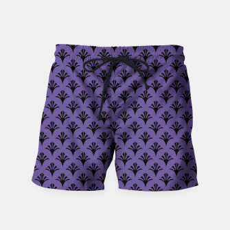 Imagen en miniatura de Color of the Year 2018 - Ultraviolet - Art Deco Black Edition Badeshorts, Live Heroes