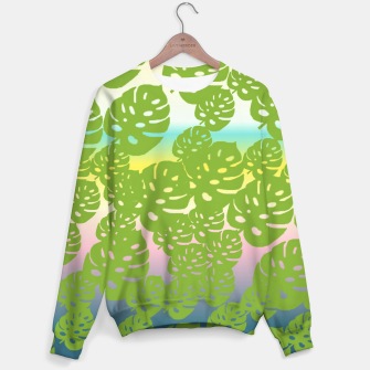 Miniatur green leafs Sweater, Live Heroes