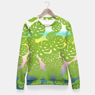 Miniatur green leafs Fitted Waist Sweater, Live Heroes