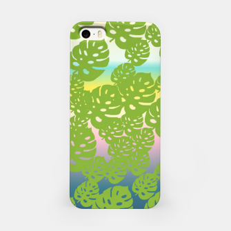 Miniatur green leafs iPhone Case, Live Heroes