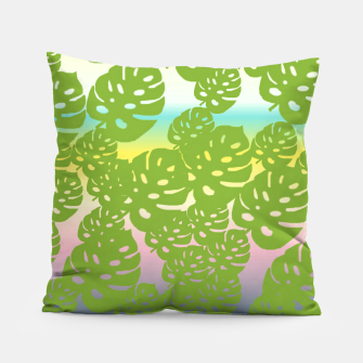 Miniatur green leafs Pillow, Live Heroes
