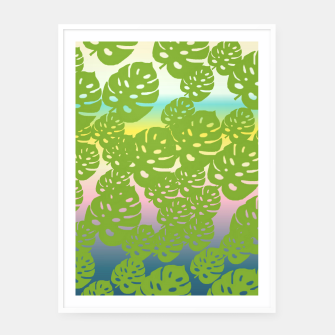 Miniatur green leafs Framed poster, Live Heroes
