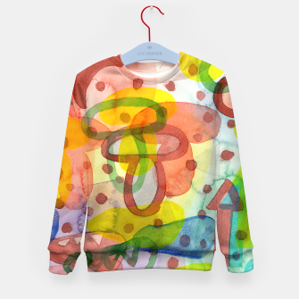 Thumbnail image of Blurry Mushroom and other Things  Kid's Sweater, Live Heroes