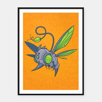Miniatur HUMM-BUZZ Pollination Drone Framed poster, Live Heroes