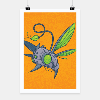 Miniatur HUMM-BUZZ Pollination Drone Poster, Live Heroes