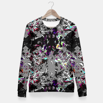 Miniaturka Strokes and abstract shapes on lines Sudadera entallada, Live Heroes