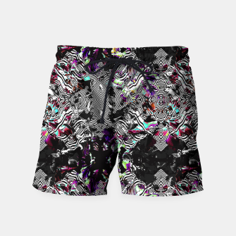 Miniaturka Strokes and abstract shapes on lines Pantalones de baño, Live Heroes